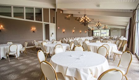 Event space at the tanglewood club