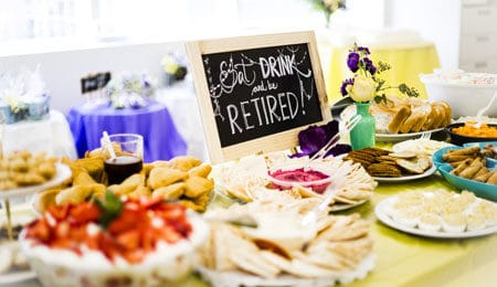 retirement party catering