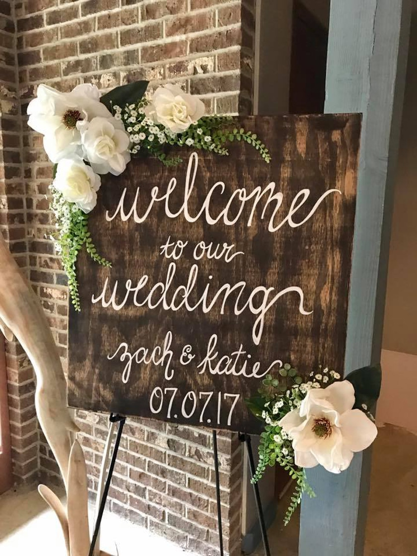 Personalize Signage at Outdoor Backyard Wedding