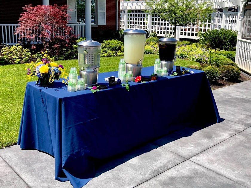 Beverage Station at Backyard Wedding