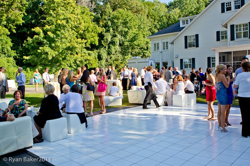 Fun Outdoor Seating at Backyard Wedding